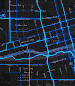 Heatmap of bicycle use